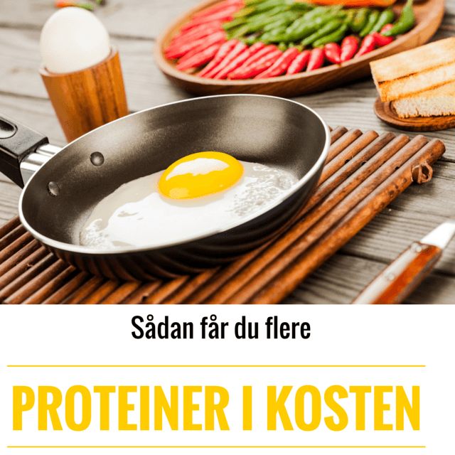 Sådan får du flere proteiner i din kost